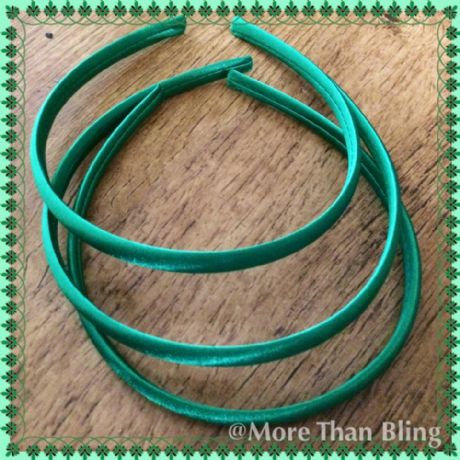10MM GREEN SATIN COVERED HEADBAND ALICE BAND